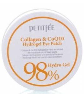 Гидрогелевые патчи для глаз Petitfee 98% Collagen and CoQ10 Hydro Gel Eye Patch 60pcs