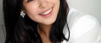 кореянка с красивыми волосами
